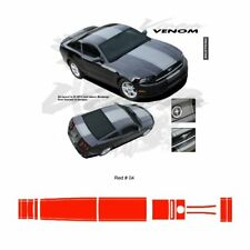 Ford Mustang 2013 up Center Stripes Graphic Kit - Red