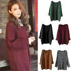 Women Long Sleeve Oversized Loose Knitted Sweater Jumper Cardigan Outwear Coat