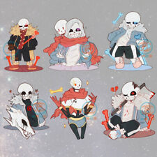 Anime Undertale Sans Papyrus Cute Acrylic Pendants Keychains Holiday Gifts 7CM