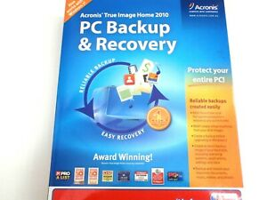 PC BACKUP RECOVERY SOFTWARE COMPUTER ACRONIS TRUE IMAGE HOME 2010 DVD