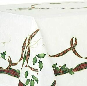 LENOX CHRISTMAS HOLIDAYS NOUVEAU RIBBON RECTANGLE TABLECLOTHS