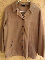 Style & Co Petite Womens Corduroy Jacket Size M Medium Lined Button Front Cotton