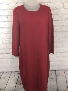 Vince Dress L/S Midi Dark Red Large