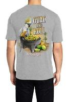 Men's t-shirt Guac and Roll The Easy Life Guac and Chips Parrot 100% Cotton NEW