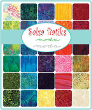 "Moda Salsa Batiks Layer Cake 10"" Precut Fabric Quilting Squares 4345LC"