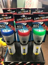 life gear glow flashlight Set Of 6 2 Red 2 Green 2 Blue