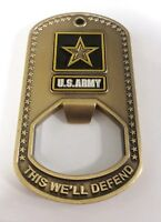 """US ARMY """"THIS WE'LL DEFEND"""" VIASAT Challenge Coin - DOG TAG/BOTTLE OPENER"""