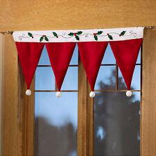 Christmas Curtain Panel Xmas Hat Decorative Door Window Drape Hanging Decor New