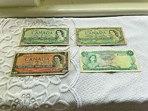 CANADA  CURRENCY COLLECTION NEW AND OLD ISSUES + Bahama Note $0.99 Start