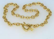 Vintage Tiffany & Co Solid 18ct Gold Heart & Arrow Rare Toggle Necklace 60 grams