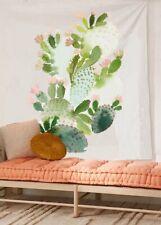 "Flberhome Cactus Watercolor Fabric Wall Tapestry 60""x 80"""