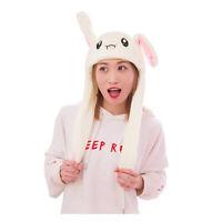 Tik Tok DouYin Cute Plush Rabbit Pinching Airbag Bunny Ear Hat Can Move Cap Gift