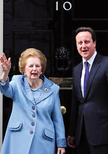 Margaret Thatcher and David Cameron No.10 Poster