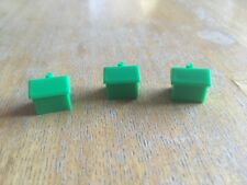 JUNIOR MONOPOLY 3 GREEN TICKET BOOTHS / BUILDINGS (Waddingtons 1994)