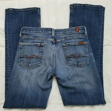 7 For All Mankind Jeans Womens 29 Bootcut Medium Distressed Made in USA A15