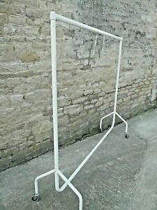 Garment Rail. Clothes Rail 6ft tall  x 6ft long. Clothing Rail with good wheels.