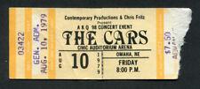 Original 1979 The Cars Concert Ticket Stub Omaha NE Candy O Tour