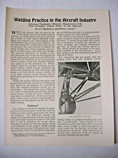 1928 Welding Practice in the Aircraft Industry by SMITH WELDING EQUIPMENT