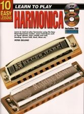 10 EASY LESSONS Harmonica Book + CD & DVD*