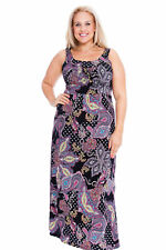Plus Size Sleeveless Synthetic Casual Dresses for Women