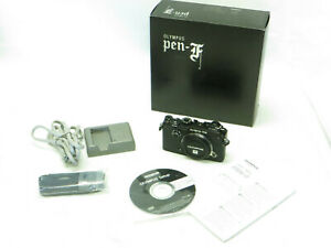 Olympus Pen F 20-Megapixel Mirrorless Micro 4/3 Camera Body Only - Eyepiece Worn