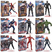 7''Action Figure Marvel Legends Avengers Captain America Spider Man with HOLDER