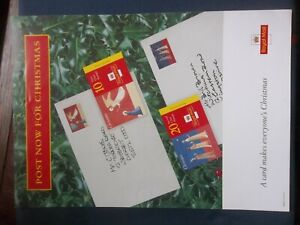 ROYAL MAIL A4 POST OFFICE POSTER 1996 CHRISTMAS BOOKLETS POST NOW