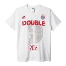 adidas FC Bayern T-shirt Double 2016 Herren weiß s