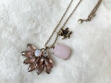 J. CREW Crystals Pink Stone PENDANT NECKLACE