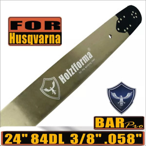 """24"""" Guide Bar 84 DL 3/8"""" .058"""" For Husqvarna 61 66 266 268 272 281 288 365 372"""