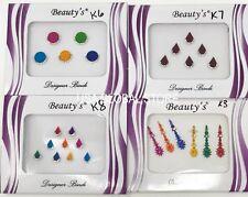 4 - k3678 Multi Color Bollywood Head Bindi Tattoo Body Glitter kumkum rhinestone