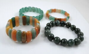 Natural Jade Elastic Bracelet