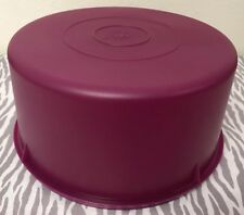 Tupperware Vintage Cake Carrier / Food Storage Container 42 Cups Plum New