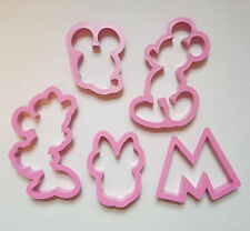 Mickey Minnie Mouse Cookie Cutter Fondant Biscuit Plastic Baking set