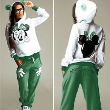 Hose Sportanzug Damen Mickey Mouse Trainingsanzug Jogginghose Pullover Hoodies