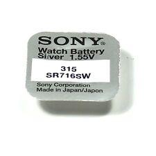 SONY 1 pile bouton 315 / SR716SW / SR716 / SR67 1,55 volts