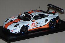 Porsche 911 RSR Gulf Racing 24h Le Mans 2018 #86 1:43 Spark S7041 neu & OVP