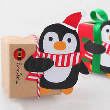 50pcs Lovely Penguin Lollipop Christmas Card Lolly Xmas Decoration Party Toys