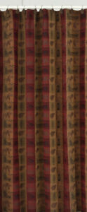 High Country Jacquard Cotton Wildlife Rustic Country Cabin Shower Curtain