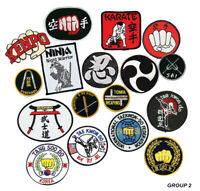 Martial Arts Logo Patches, Karate, Taekwondo, Kenpo Weapon Ninja Sew-on Group 2