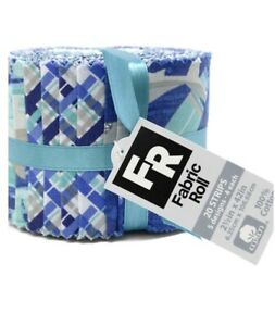 Cotton Fabric Roll (20 Pieces), Cotton Jelly Roll - Blue Shark Cotton Fabric