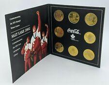 2002 Xix Olympic Coca-Cola Salt Lake Coin Medallion Set Hockey Team Canada