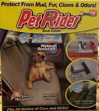 Pet Rider Seat Cover Dog Cat Car Truck Couch Waterproof Washable Brand New