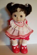 Vintage Mattel 1985 My Child Doll Girl Brunette Original Clothes Red Shoes