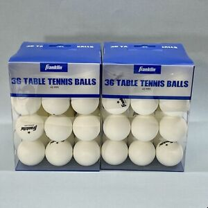 2x Official Size Franklin 40mm Table Tennis/Ping Pong Balls White 36-Count