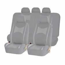 ALL GRAY HONEYCOMB MESH AIRBAG READY SPLIT BENCH SEAT COVERS SET FOR CARS 1245