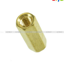 10PCS Brass M3 12mm M3*12 PCB Boards Hex Screw Net Nut Standoff Spacer NEW