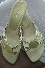 Jasmin Strappy Womens Sandals Green Slip on sz 8.5M SHIPS in Ontario