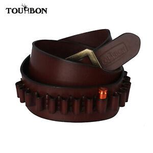 "Tourbon Cowhide Leather Western Bandolier Ammo Belt 20 Shells Holder 35-41""Waist"