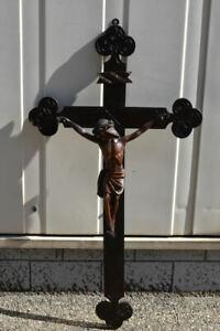 h05x04- Kruzifix, Holz geschnitzt, 19.Jh.